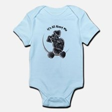 Black Schnazuer IAAM Infant Bodysuit