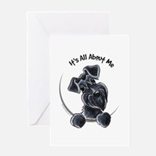 Black Schnazuer IAAM Greeting Card