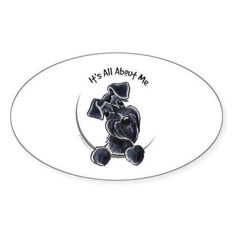 Black Schnazuer IAAM Sticker (Oval)