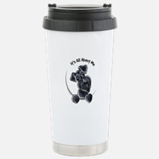 Black Schnazuer IAAM Travel Mug