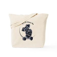 Black Schnazuer IAAM Tote Bag