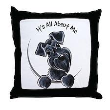 Black Schnazuer IAAM Throw Pillow