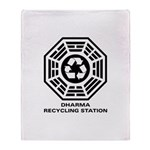 DHARMA Recycling Station Throw Blanket