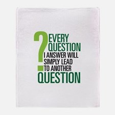 LOST Question Quote Throw Blanket