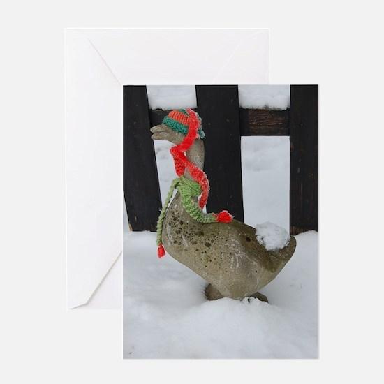 Christmas Goose Greeting Card