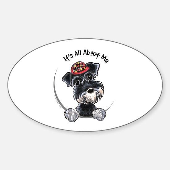 Boy Schnauzer IAAM Sticker (Oval)