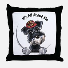 Boy Schnauzer IAAM Throw Pillow