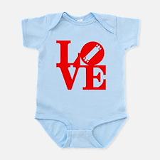 Love longboard red Infant Bodysuit