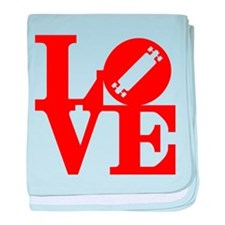 Love longboard red baby blanket