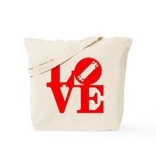 Love longboard red Tote Bag