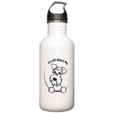 White Schnazuer IAAM Water Bottle