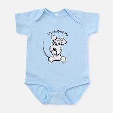 White Schnazuer IAAM Infant Bodysuit