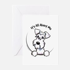 White Schnazuer IAAM Greeting Cards (Pk of 20)