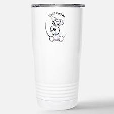 White Schnazuer IAAM Stainless Steel Travel Mug