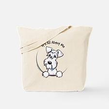 White Schnazuer IAAM Tote Bag