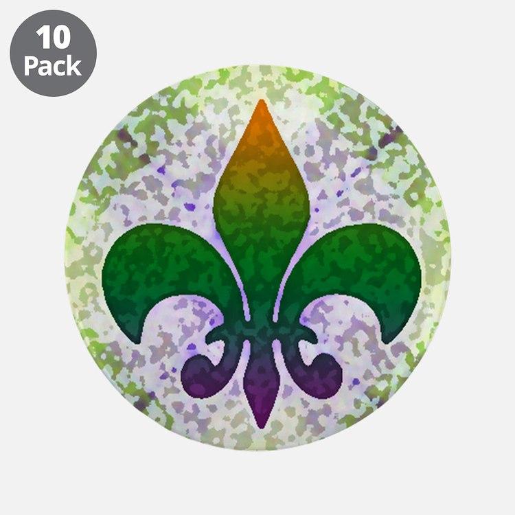 """Fleur de Lis 3.5"""" Button (10 pack)"""