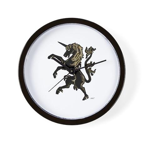 Unicorn Rampant Wall Clock