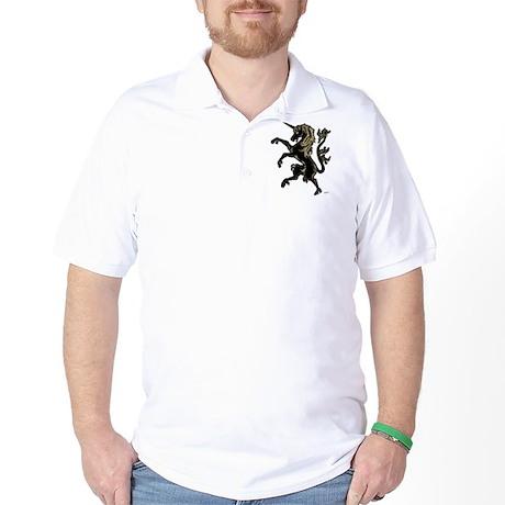 Unicorn Rampant Golf Shirt