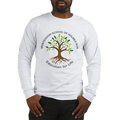 Adult MSHR Long Sleeve T-Shirt White Of Grey