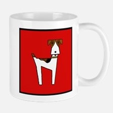 graphic terrier (red) Small Small Mug