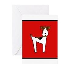 graphic terrier (red) Greeting Cards (Pk of 10)