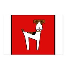 graphic terrier (red) Postcards (Package of 8)