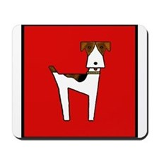 graphic terrier (red) Mousepad