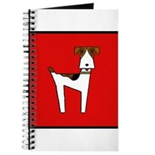 graphic terrier (red) Journal