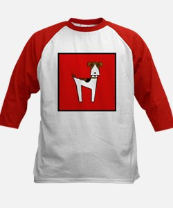 graphic terrier (red) Kids Baseball Jersey