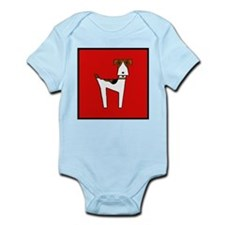 graphic terrier (red) Infant Bodysuit