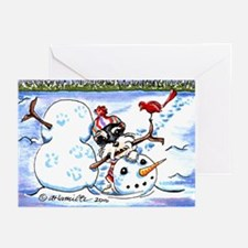 Schnauzer n Snowman Greeting Cards (Pk of 20)