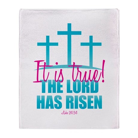 Lord Has Risen Throw Blanket