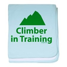 Climber in Training baby blanket