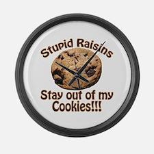 Stupid Raisins Large Wall Clock