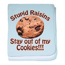 Stupid Raisins baby blanket