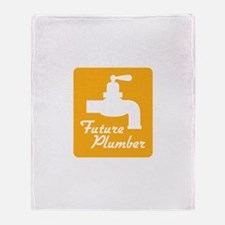 Future Plumber Throw Blanket