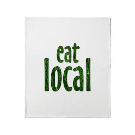 Eat Local - Throw Blanket