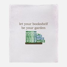 Bookshelf Garden - Throw Blanket