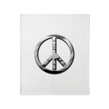 Chrome Peace - Throw Blanket