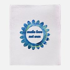 Make Love Not War - Throw Blanket