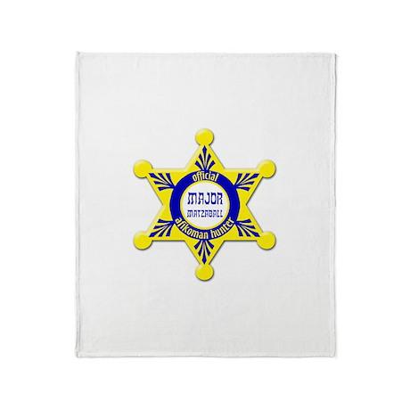 Major Matzaball Badge - Throw Blanket