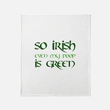 Green Poop - Throw Blanket