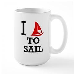 I Love to Sail Large Mug