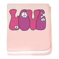 Peace & Love baby blanket