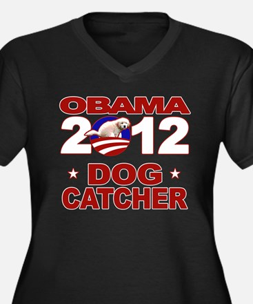 Obama for Dog Catcher 2012 Women's Plus Size V-Nec