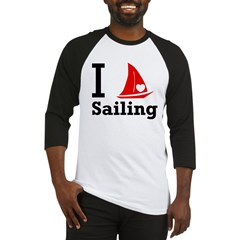 I Love Sailing Baseball Jersey