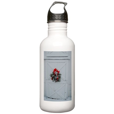 Christmas Barn Door Stainless Water Bottle 1.0L