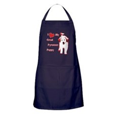 Great Pyrenees Apron (dark),Love my Great Pyrenees