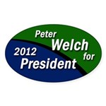Peter Welch for President bumper sticker