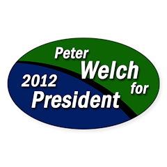Peter Welch for President bumper sticker